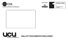Sample ERS ballot envelope