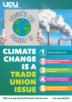 UCU climate change poster