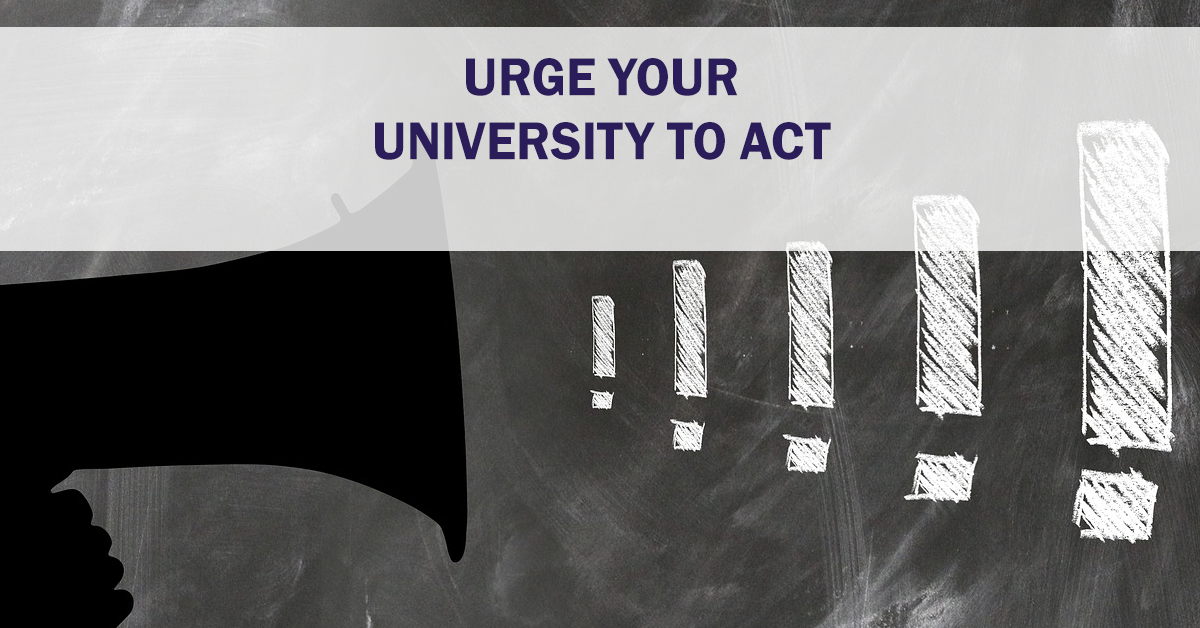 Speak out: email your university