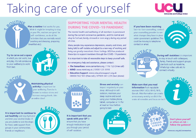 Taking care of yourself - Covid-19 guidance
