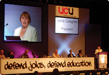 Sasha Callaghan addresses UCU Congress 2009 : UCU president Sasha Callaghan addresses UCU Congress 2009