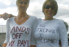 TMC prison strike, Sheppey Cluster t-shirts, 4 Aug 10