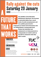 A Future that Works, 29 January 2011, Manchester poster