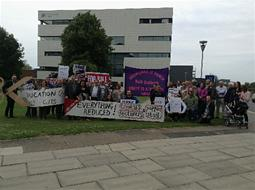 Grimsby College strike, 2 July 2103