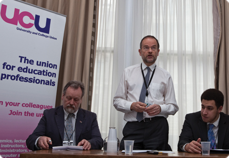 UCU lobby of parliament - lobby meeting, Apr 14