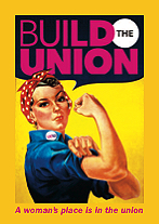 A woman's place is in the union : International Women's Day postcard