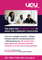 ACE recruitment poster : Picture of the adult and community education recuitment poster