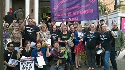 Strikers at Lewisham Southwark College, Jun 15