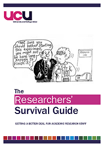 UCU researchers' survival guide cover