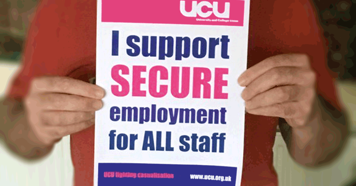 I support secure employment