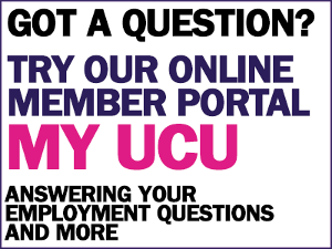 UCU support centre : This link opens in a new window