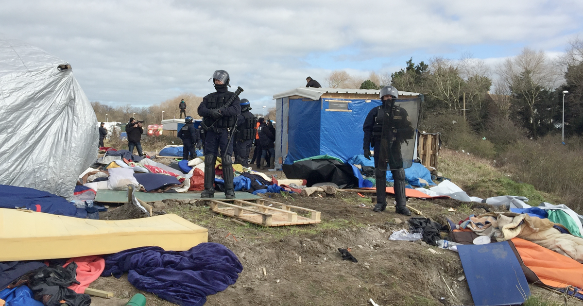 Care4Calais camp image