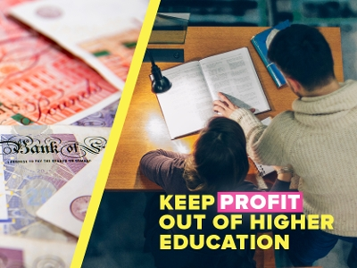 Keep profit out of higher education