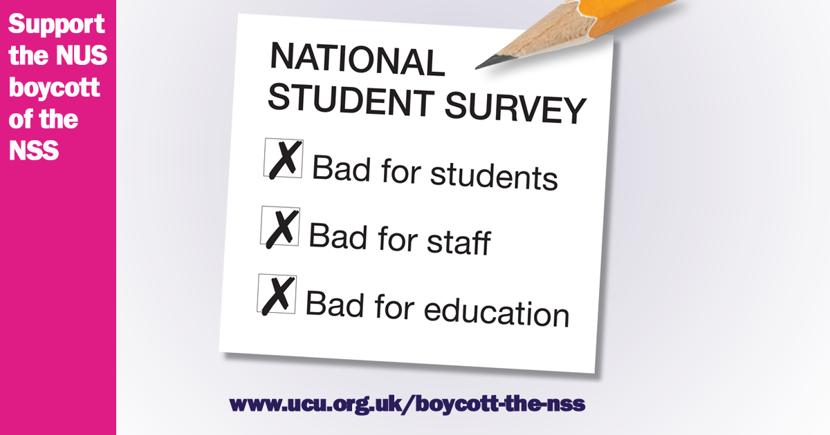 No to fee rises, no to the TEF, boycott the NSS