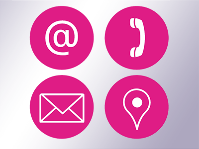 Email, telephone, address & location symbols