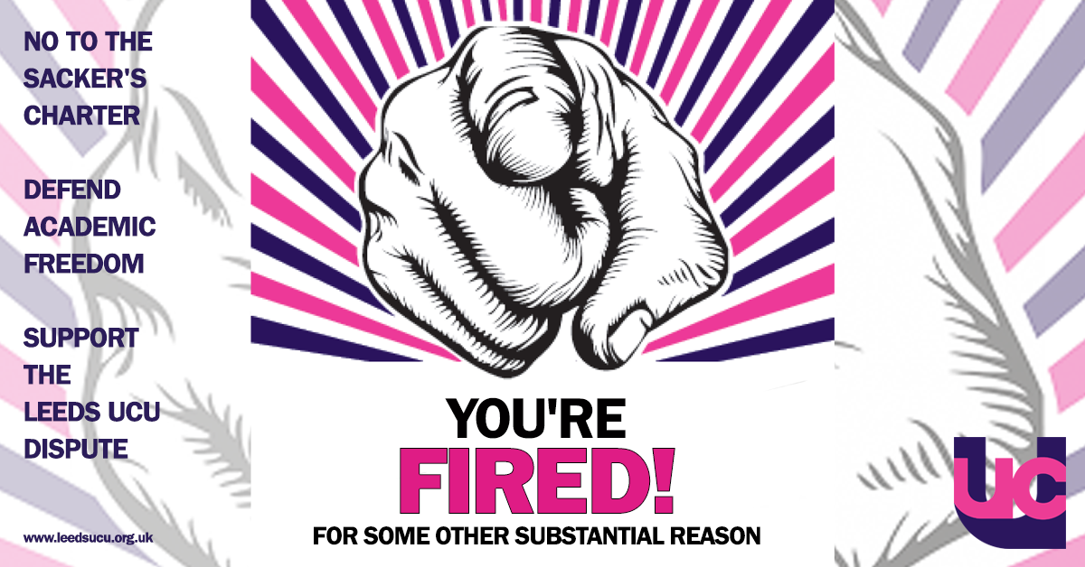 You're fired - Leeds UCU statutes dispute