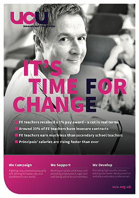 It's time for change - FE campaign poster