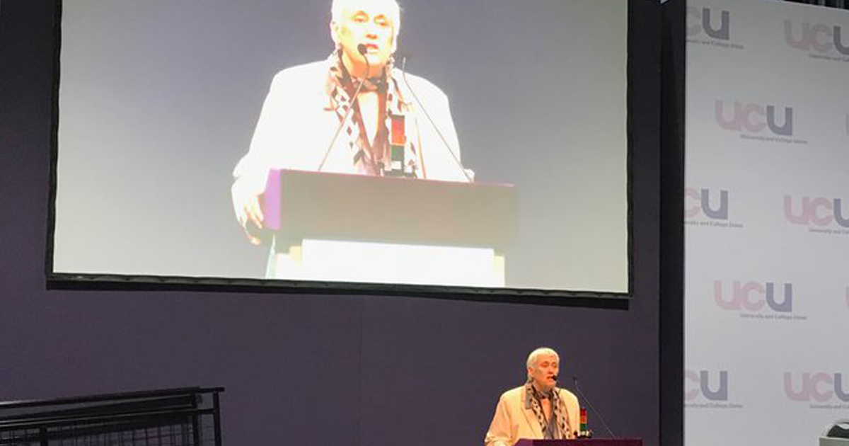 UCU president speaks to UCU Congress 2018