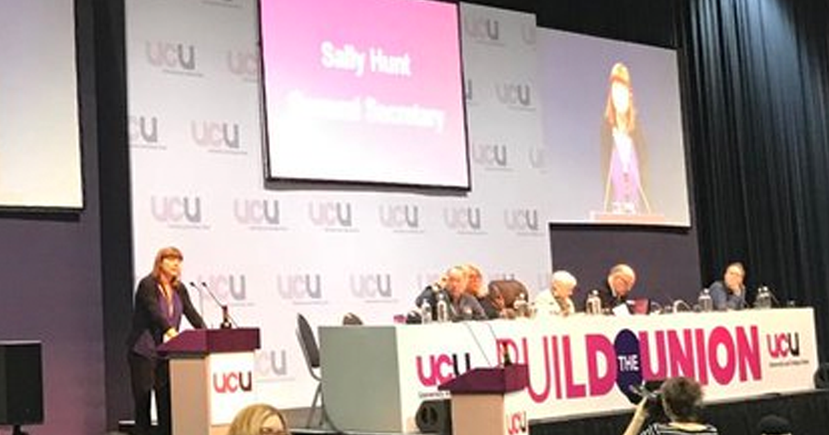 UCU general secretary speaks to UCU Congress 2018