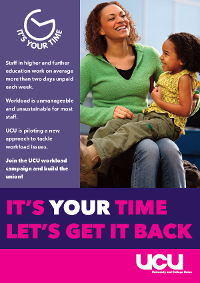 It's your time - workload campaign poster