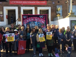 2018-09 Strikes on at Lewisham Southwark College as last-minute talks fail to resolve pay dispute