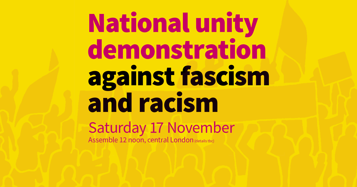 National unity demonstration against fascism and racism - page